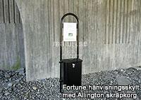 Malus  Fortune  Hänvisningsskylt Allington skräpkorg liter offentlig miljö utomhus utomhusmiljö