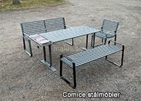 Malus Comice stålmöbelserie offentlig miljö utomhus utomhusmiljö