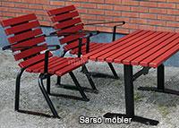 Malus Särsö möbelserie fåtöljer bord soffor offentlig miljö utomhus utomhusmiljö