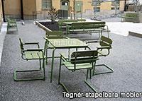 Malus Tegnér stapelbara möbler offentlig miljö utomhus utomhusmiljö